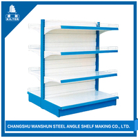Corrosion Protection supermarket display shelf with iron stand