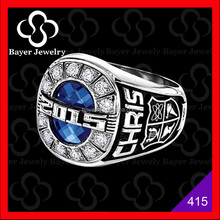 Design new high school stainless steel class ring jewelry