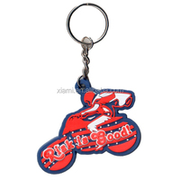 good quality risk series red motorcycle shape soft pvc lettle keychain