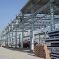 industrial workshop warehouse with steel structure material