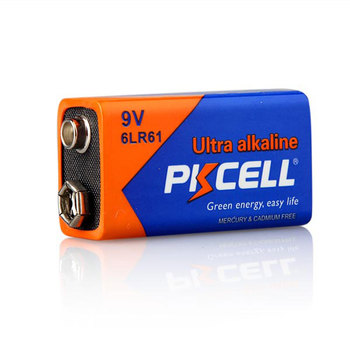 6LR61 9V Dry Cell Battery with High Capacity CE ROHS Approved