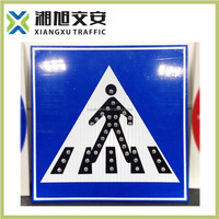 China factory latest product Solar powered Portable LED warning road traffic signs & signals