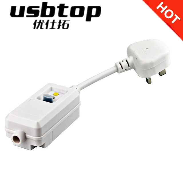 USBTOP BRAND NB-KF3E-13 UK GFCI Leakage Protection Safety PRCD <strong>PLUG</strong>
