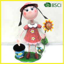 New fashion handicraft girl with flower pot for garden