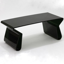 Black acrylic coffe table , lucite furniture console table, plexiglass office table home bar table