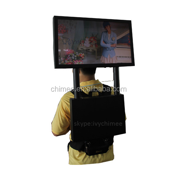 24 inch lcd backpack video jacket ad screen backpack lcd advertising