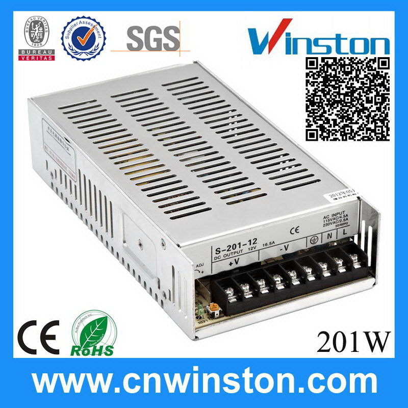 S-201-12 201W 12V 16.5A economic best selling esp power supply