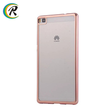 Silicon case for Huawei for Huawei Ascend P8 P8 lite Electroplated case smartphone