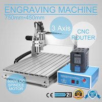 CNC Router Engraving Machine Engraver Machine 6040Z 3 Axis Desktop Wood Carving Tools Artwork Milling Woodworking with 1.5kw VFD