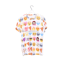New design good quality summer short sleeve emoji printed combination t-shirt