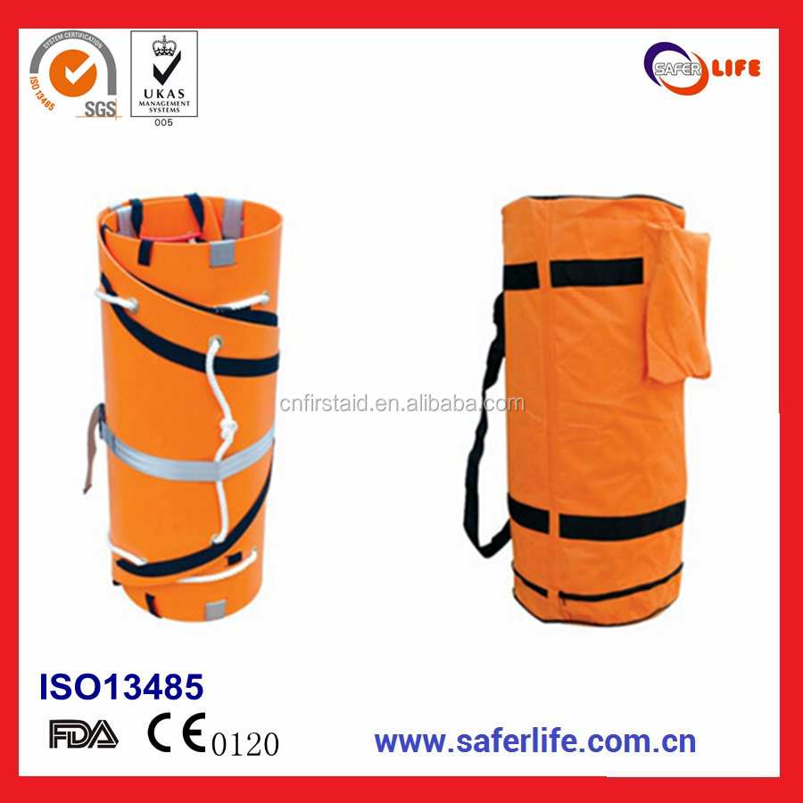 2017 High Quality Light-Weight Easy To Carry Orange Patient Transfer Rescue Emergency Foldaway Multifunctional Roll Stretcher