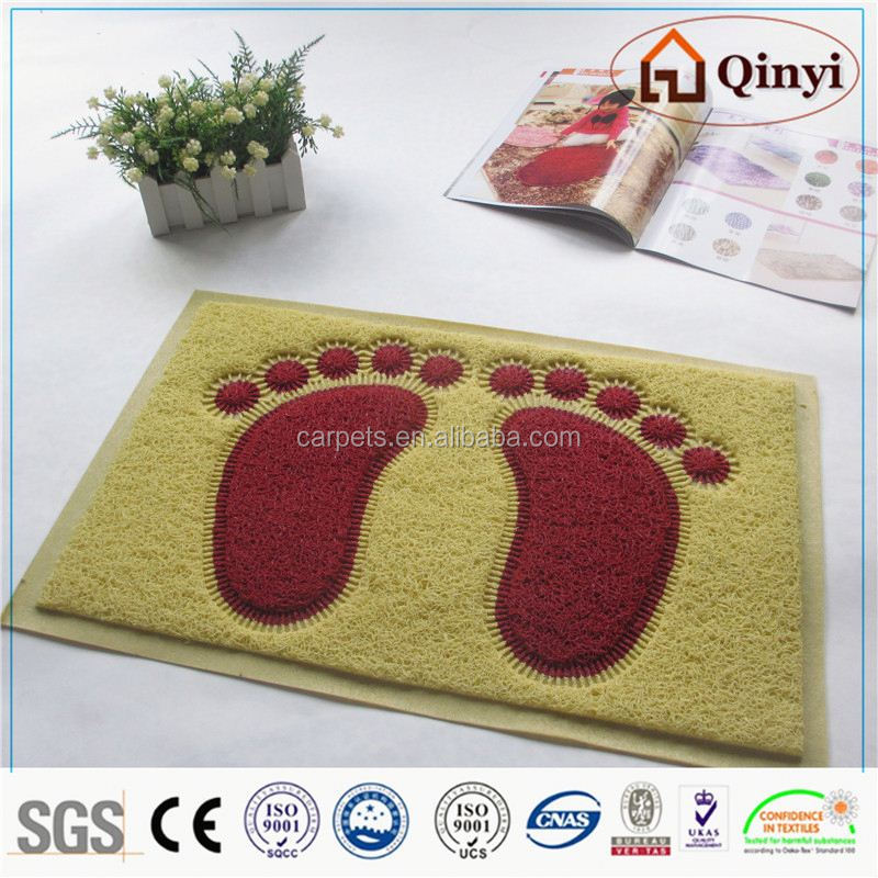 car floor mats with logo/pvc floor mat - qinyi