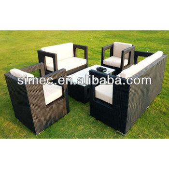 High quality cheap garden furniture synthetic rattan sofa SCSF-002