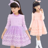 2016 hot fashion child dress sweet girls party dresses bow dress design