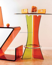 colorful transparent customized acrylic table, lucite snack table/plexiglass table, acrylic furniture