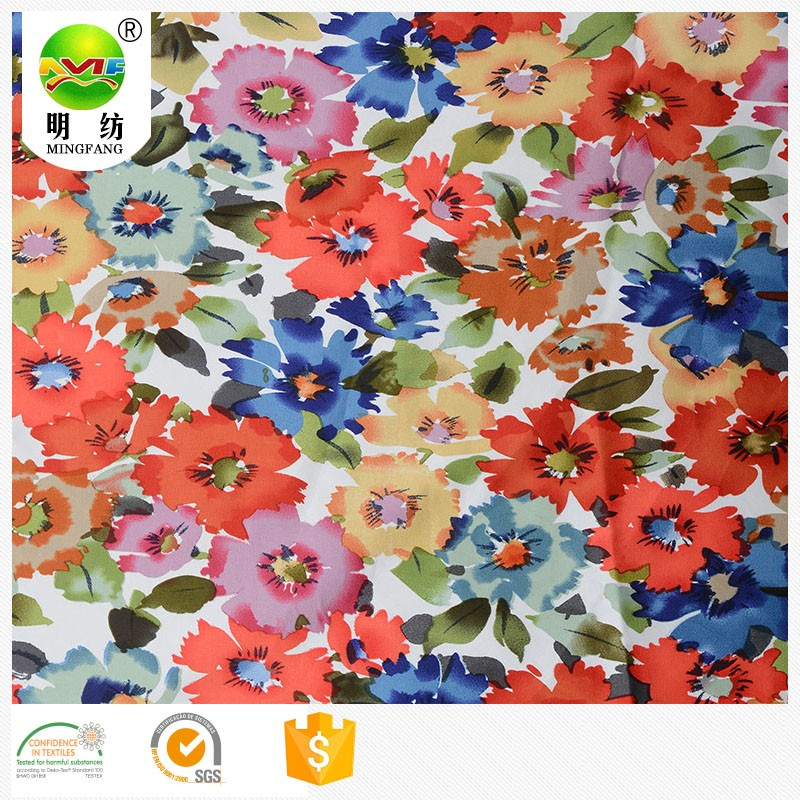 high density cotton spandex printing fabric twill cotton satin fabric