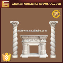Roman design indoor hand carved marble fireplace