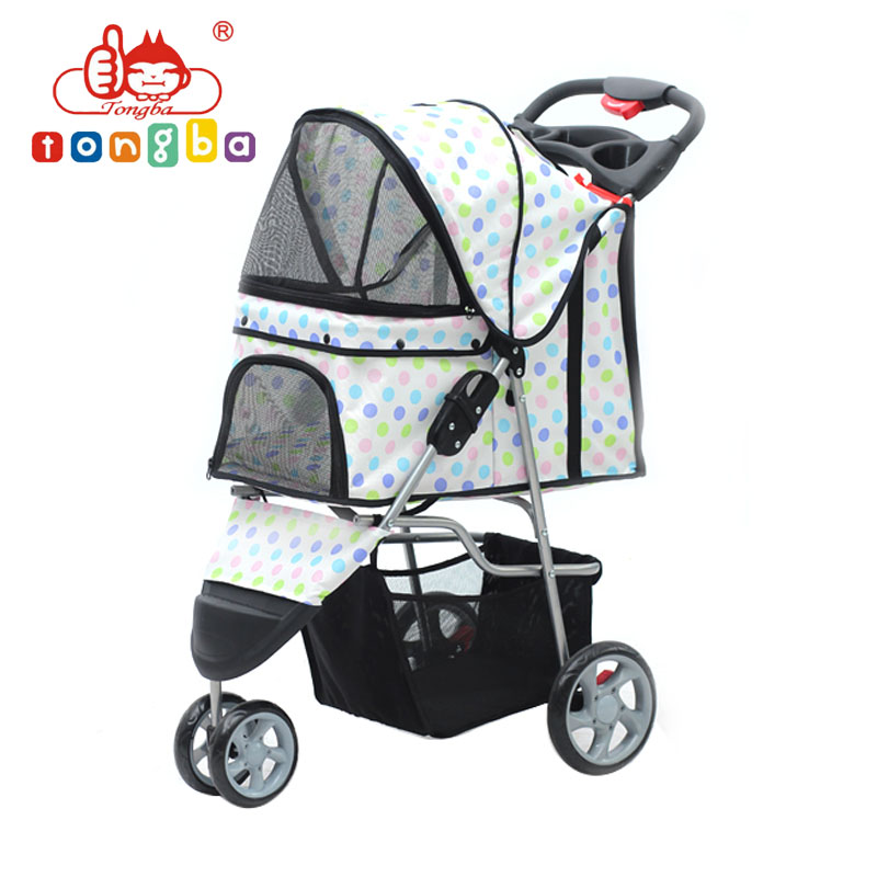 Sp03Three Wheels Foldable Pet Dog Stroller