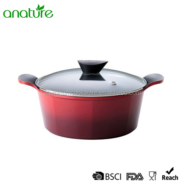HQ-3123 High Density Die-cast Aluminum Gradual changed Casserole With Factory Wholesale Price