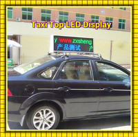 New Super-baby outdoor double sided car / taxi led display (3g/wifi/usb),960*320mm P5 192*64 pixel