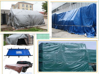 China virgin material waterproof PE Tarpaulin factory with black corner