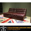 Hot new products leather sofa without armrests/Luxury retro genuine leather sofa