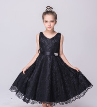 Different Models of kids net design party dress Export to Europe