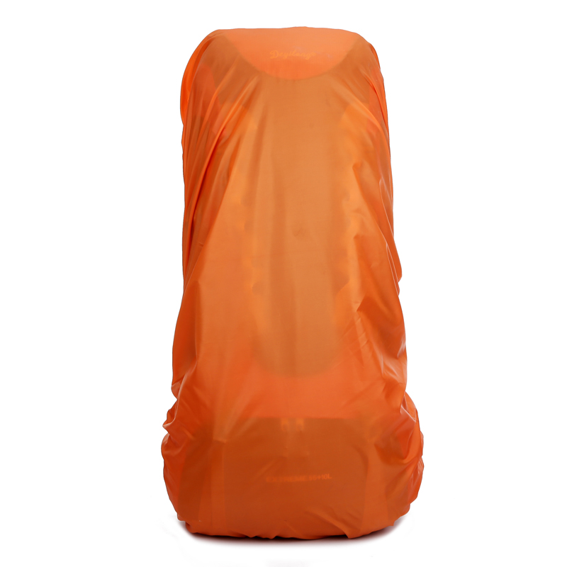 durable anti friction New Waterproof Travel Hiking Accessory Backpack Camping Dust Rain Cover 40L 65L 80L orange