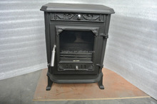 cast iron material wooden stove without chimney tube