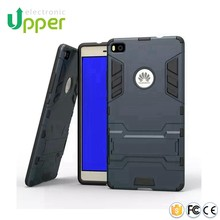 Funny smart mobile cell phone back fiber carbon hybrid cover silicon case for huawei ascend p7