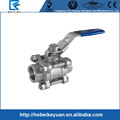 "1/2"" Stainless Steel 316 Ball Valve -3Piece Body Full Port 1000WOG,Locking Valve"