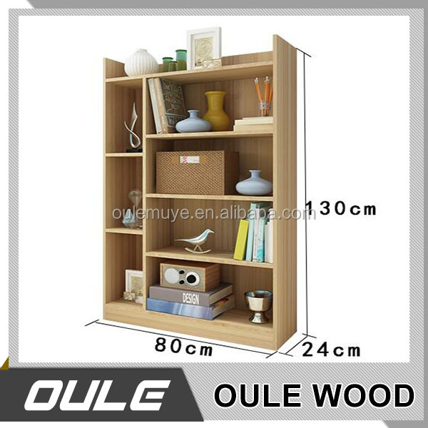 Modern design 5 tier wooden bookcase / book shelf for home furniture