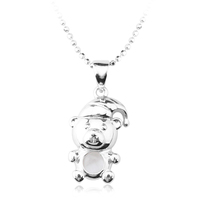OUXI Wholease Jewelry Panda 925 Sterling Silver Pendants Y30221