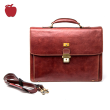 Experienced Factory New Coming Genuine Leather Man Briefcase Bag Briefcases For Business