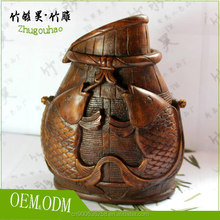 Junket Kettle Bamboo Root Carving Crafts