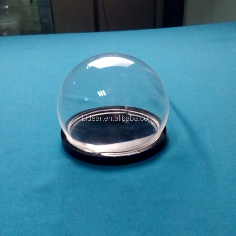 clear acrylic dome display with black base