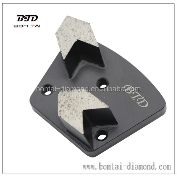 Arrow trapezoid grinding tool for concrete paint removal,coating epoxy