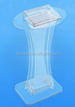 Pure Clear Stable Large Acrylic High Grade School Lectern