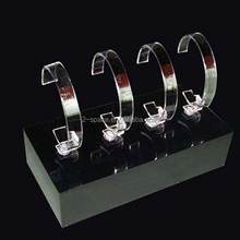 Clear Acrylic Bracelet Watch Display Holder Arc-shaped Jewellery Stand Rack Retail Shop watch Showcase
