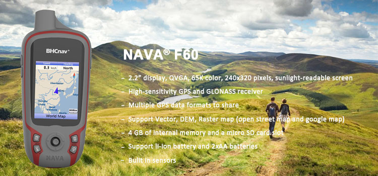 NAVA F60 Handheld GPS Gnss Receiver with Quad Helix Antenna