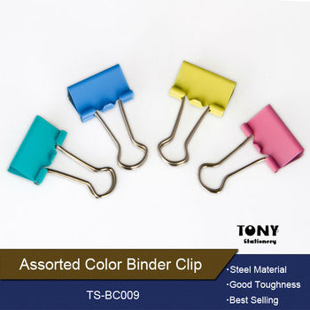 All kinds mini cute colored stationery binder clip
