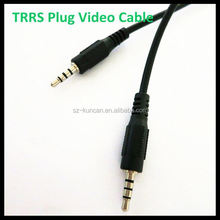 3.5 male to 2 RCA female Y Adapter cord Converter jack Audio cable