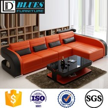 Furniture Living Room Modern Italian Leather Sofa Manufacturers