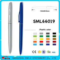 2016 China Supplier simple twist plastic ball pen for hotel use