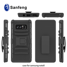 Robot combo belt kickstand rotatable mobile phone case for Samsung Note 8