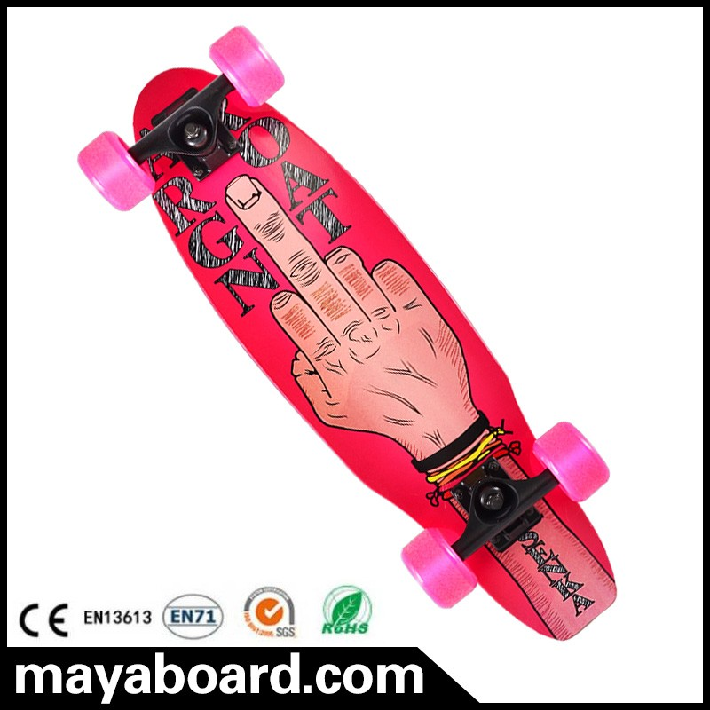 Leading factory in China Pro quality printing street cruiser customized completed skateboard