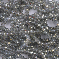 DIY Jewelry YiWU Factory Wholesale Faceted Round Beads Chinese Crystal AB Shinging Faceted Rondelle Bead