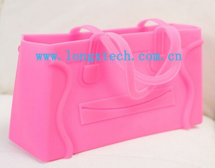 oem design various style fashion silicone rubber purse/bag/Handbag/Wallet
