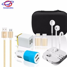 Fashion Product shenzhen mobile phone accessories factory in China with cable+charger+headset phone charging device
