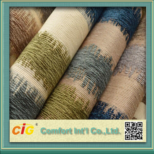 Popular Anti-static Chenille Fabric with Classic Jacquard